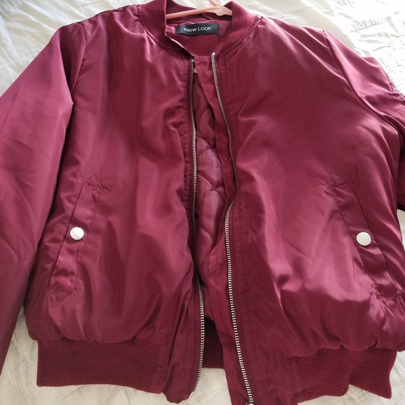 18f4b6c76 Women's maroon flight bomber jacket